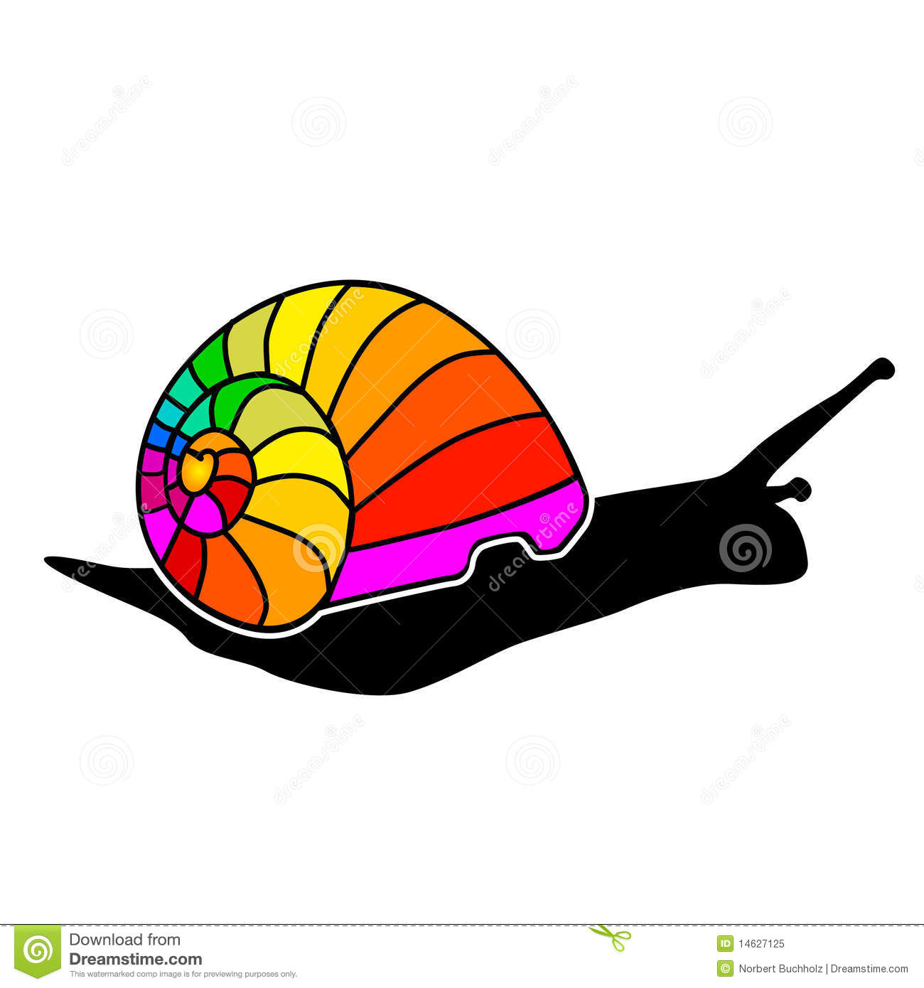 Color Snail Royalty Free Stock Photo - Image: 14627125