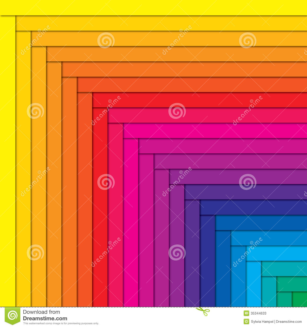 Color Spectrum Abstract Background, Beautiful Stock Vector