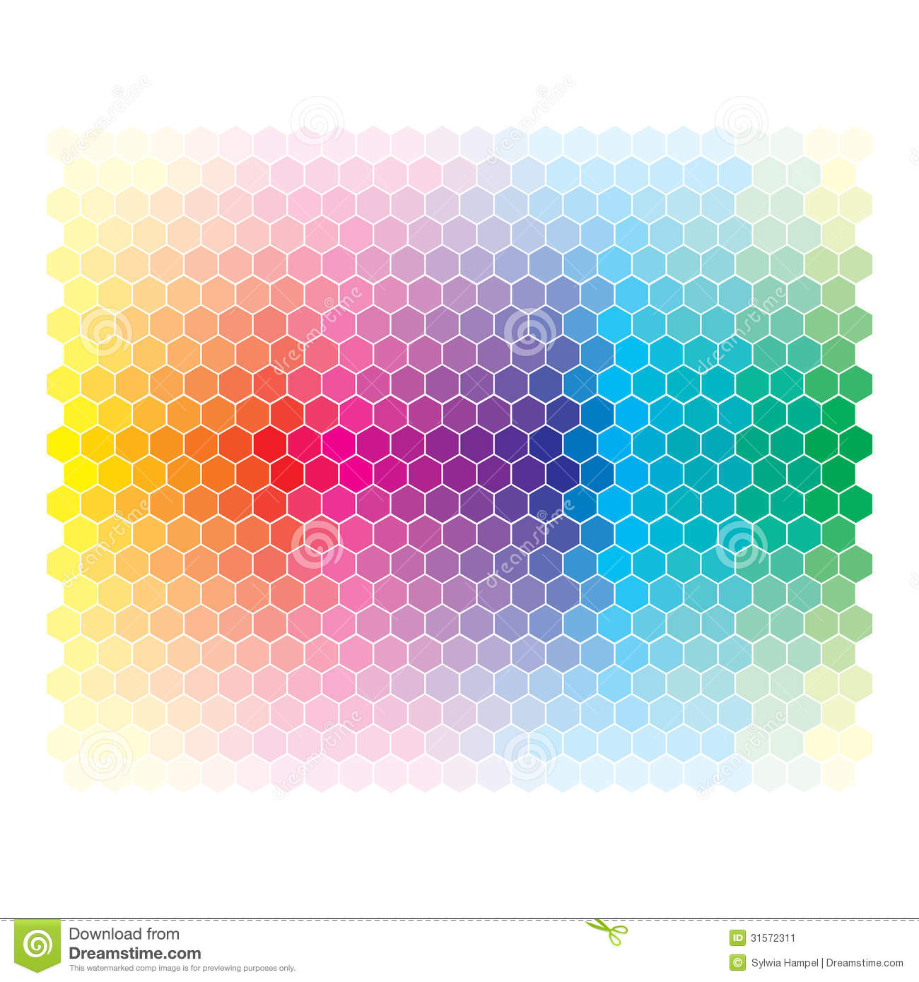 Color Spectrum Abstract Wheel  Colorful Diagram Ba Stock