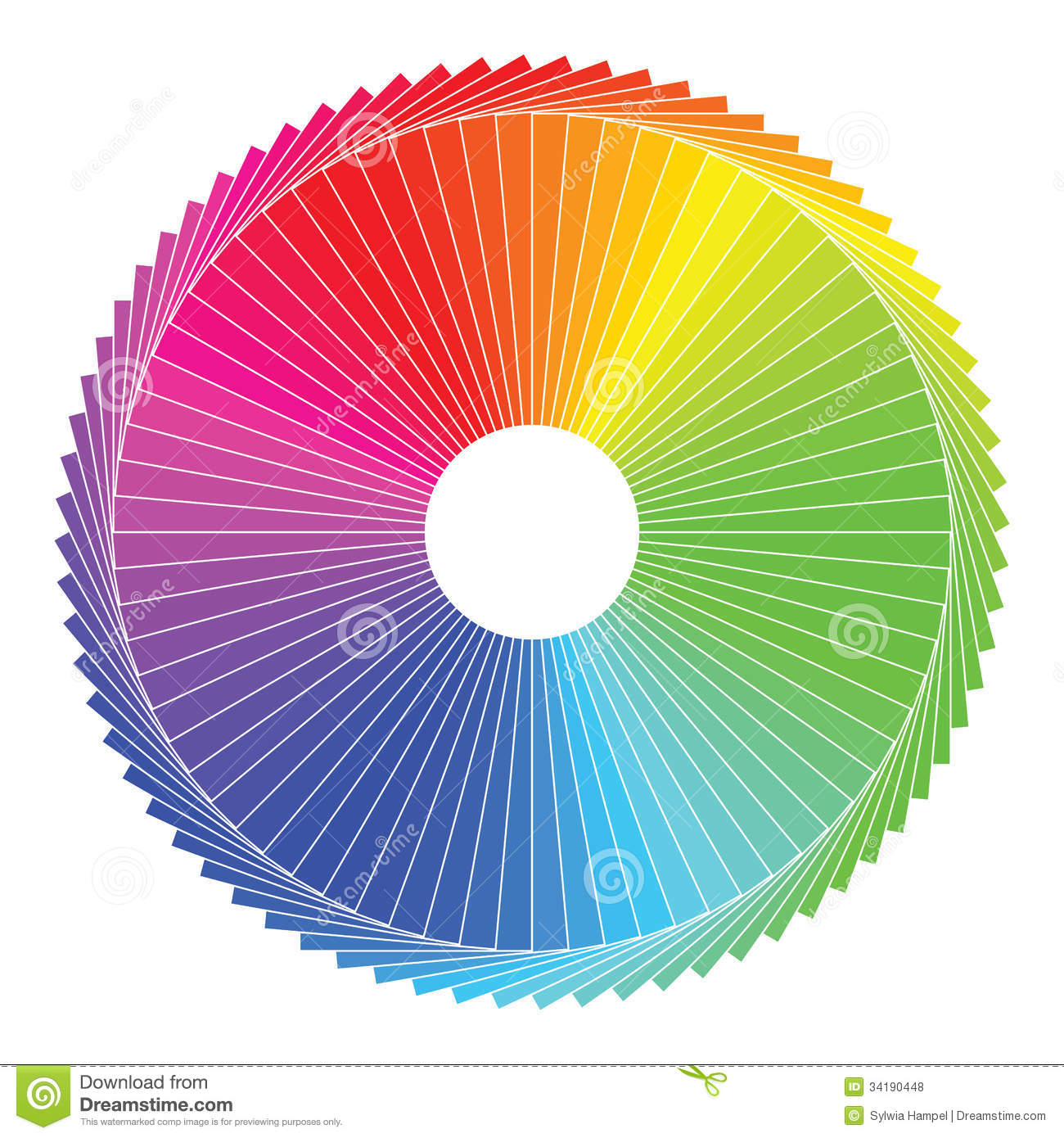 Color Spectrum Abstract Wheel Colorful Diagram Stock Wiring Diagram