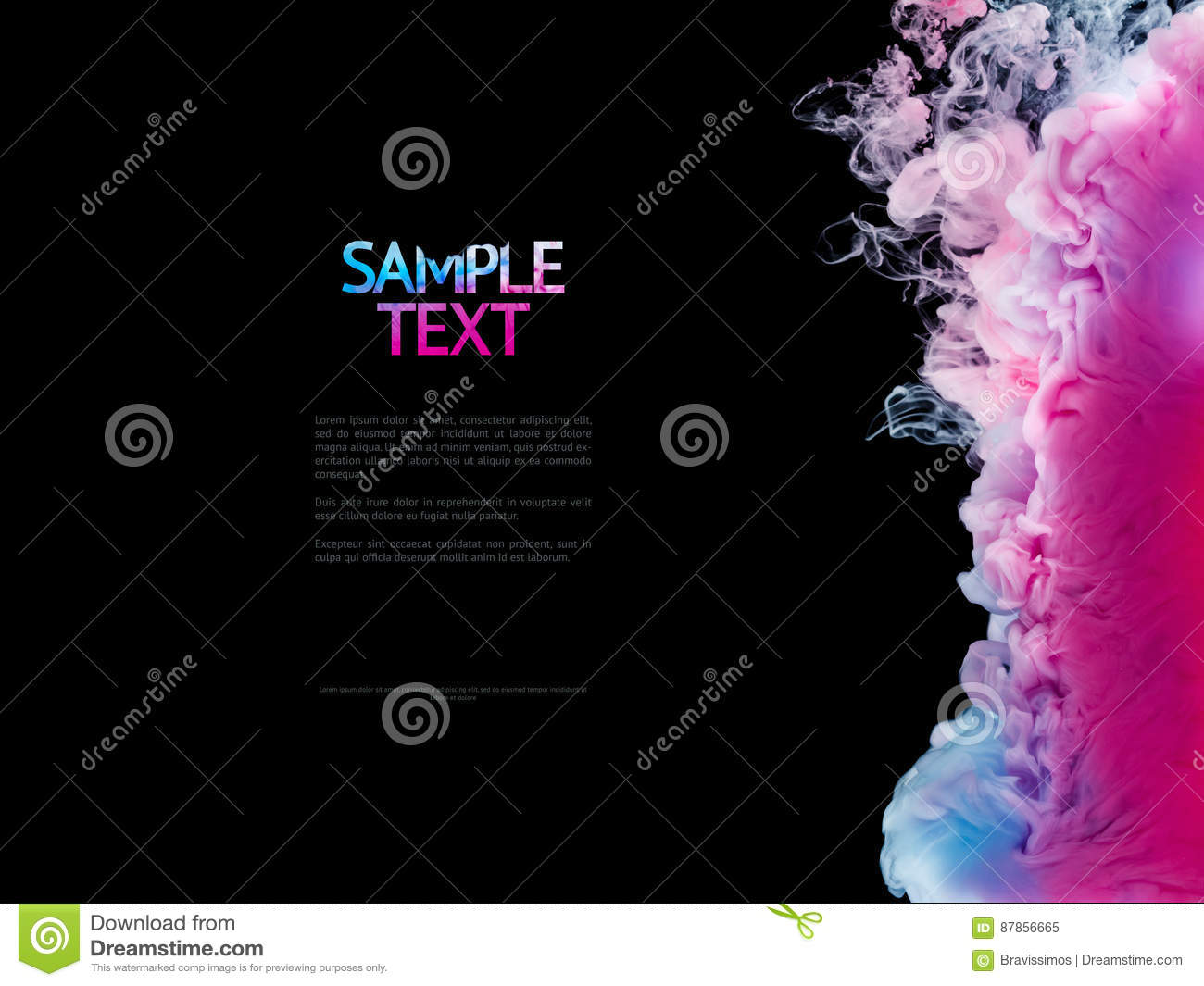 Download Color Splashes Of Ink Isolated On Black Background. Abstract Paint In Water Motion. Swirling Colorful Drops Stock Image - Image of motion, black: 87856665