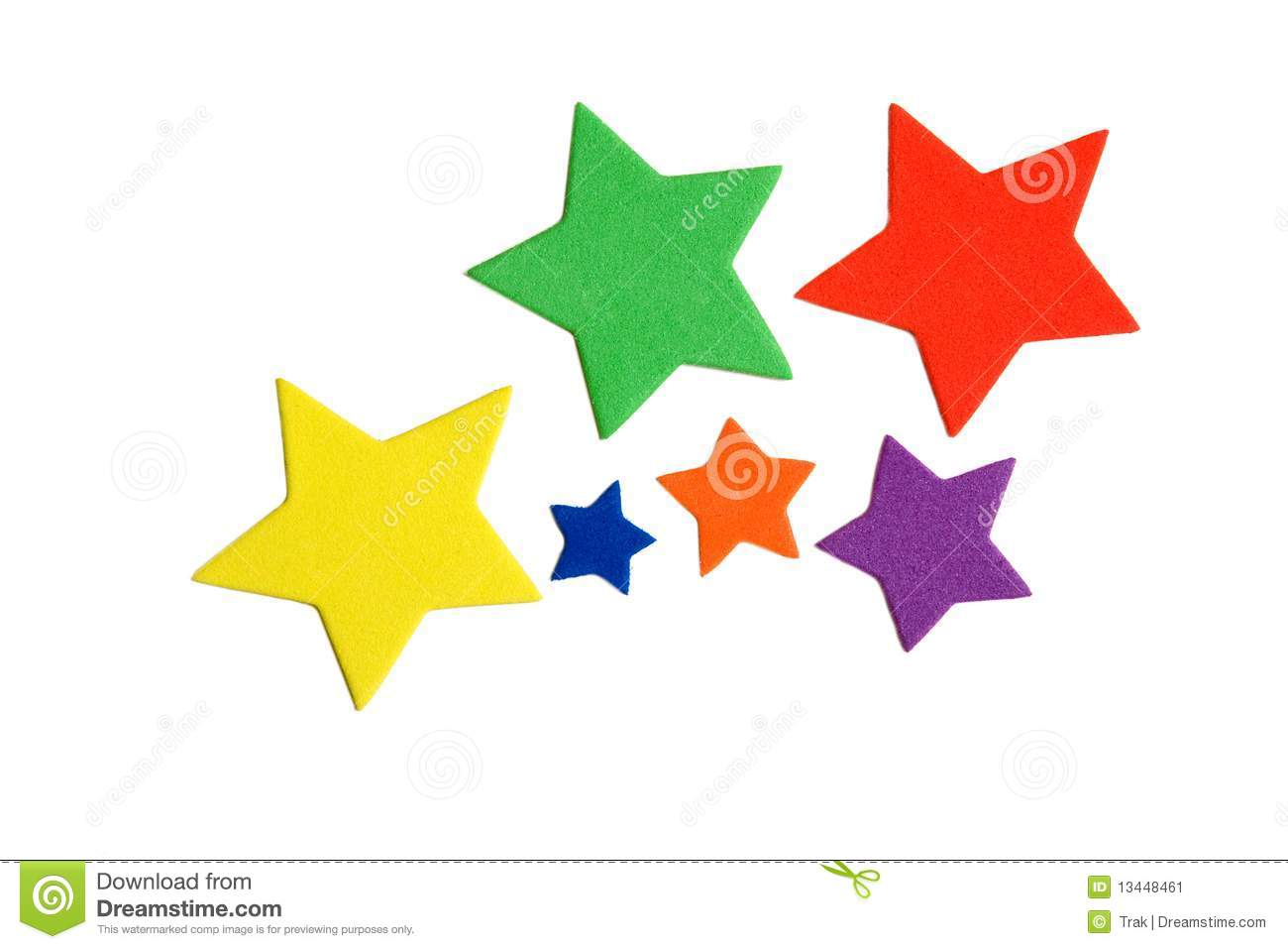 Color Stars Stock Image. Image Of Colored, Colorful, Star