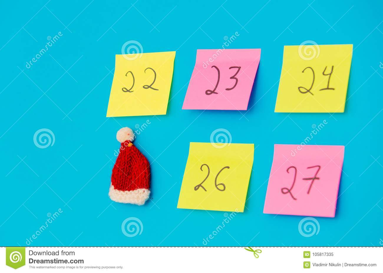 download color stickers with numbers counting the days before christmas stock image image of reminder