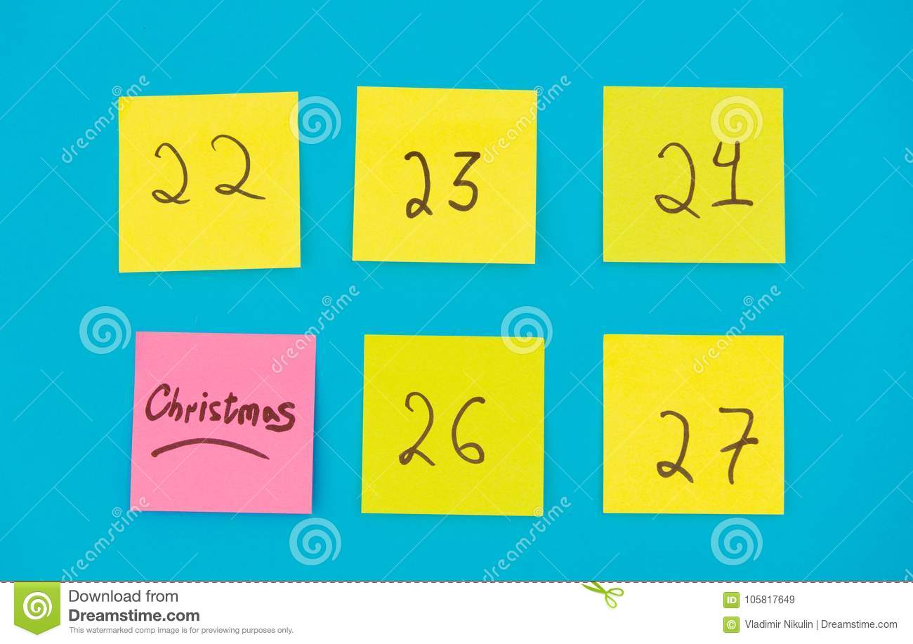 Color Stickers With Numbers Counting The Days Before Christmas Stock ...