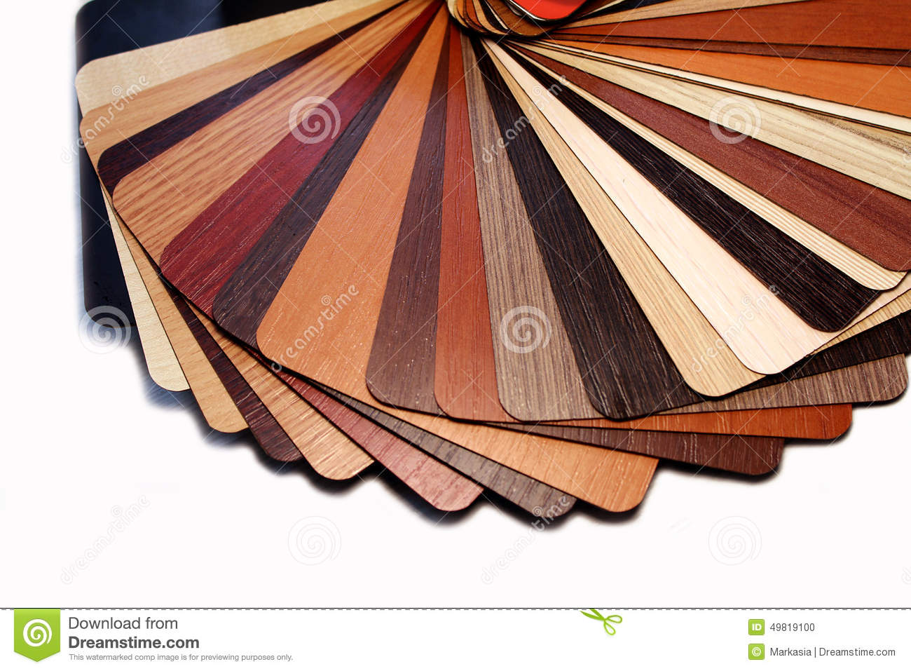 Color Swatches Laminated Chipboard Stock Photo Image