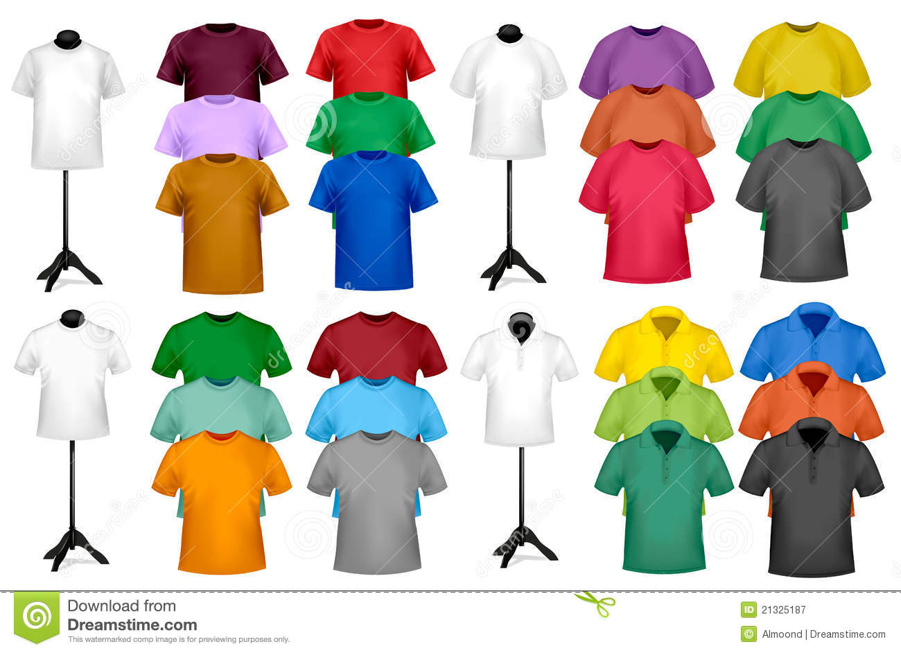 Color T-shirt Design Template Stock Vector - Illustration of body ...