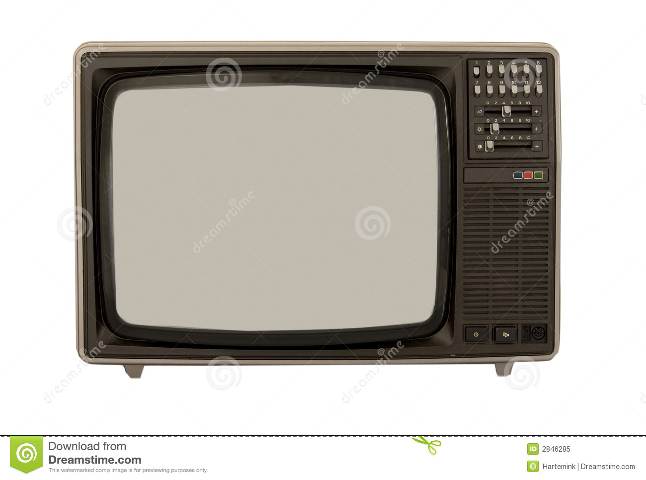 Color Television From The 80s Royalty Free Stock Photo
