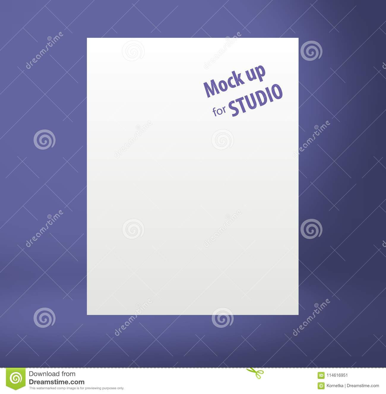 color template mock up for display or montage of product stock