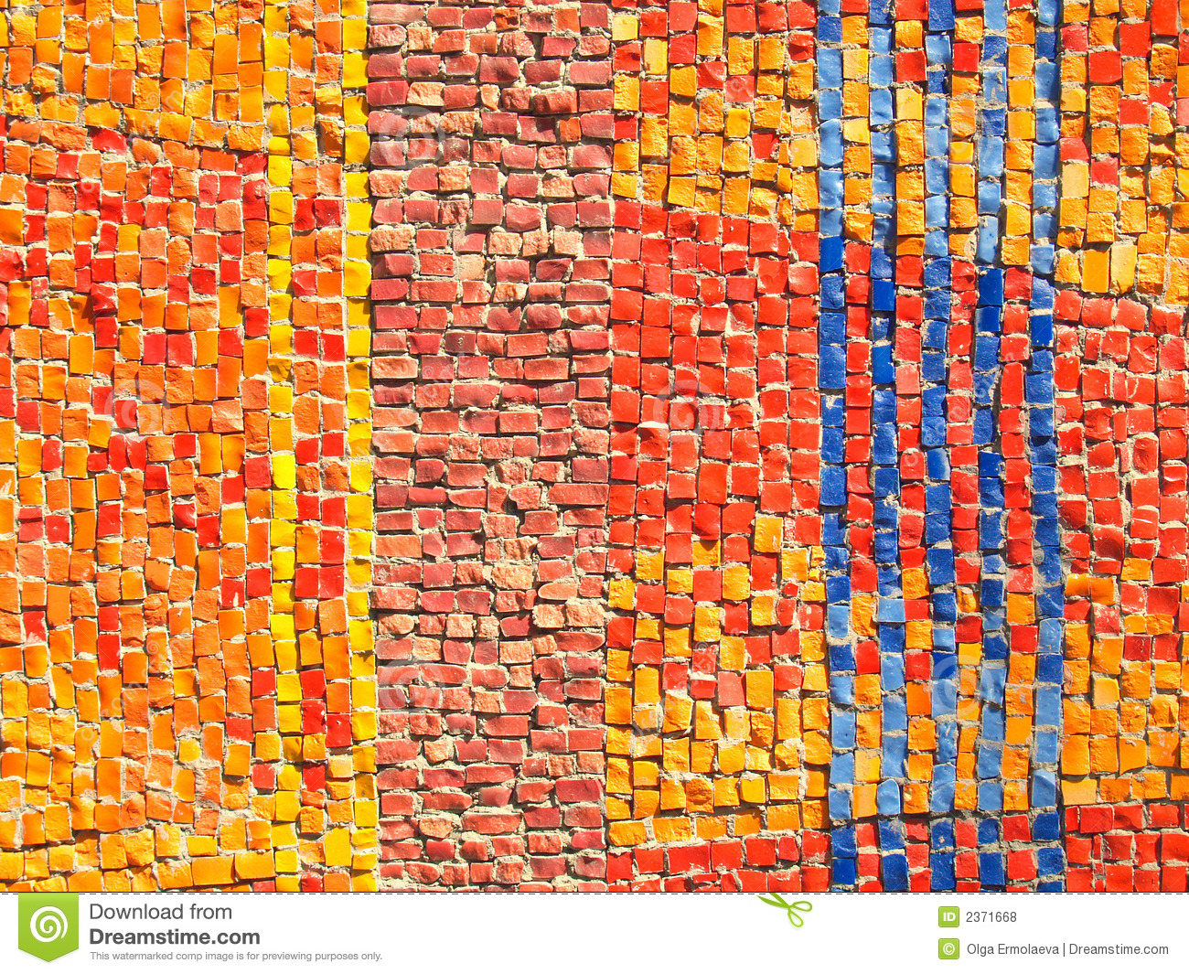 Color Tiles Mosaic Texture Stock Photo Image Of Colored
