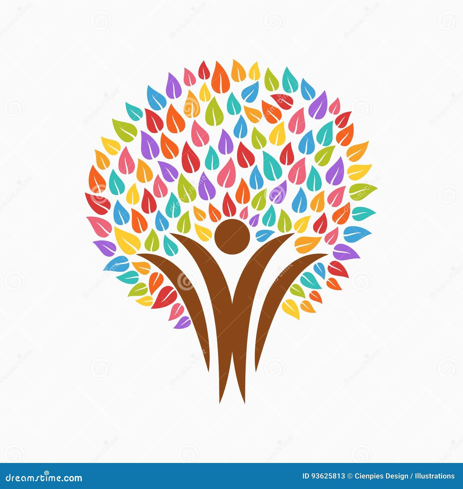 Color tree people symbol for community team help stock vector color tree people symbol for community team help buycottarizona