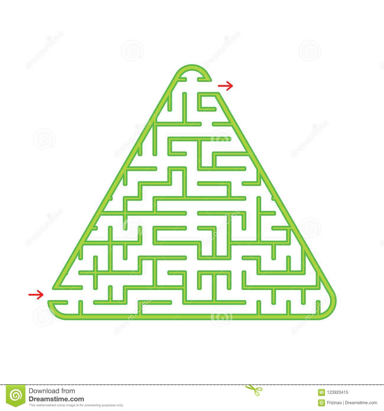Color Triangular Labyrinth. An Interesting And Useful Game For ...