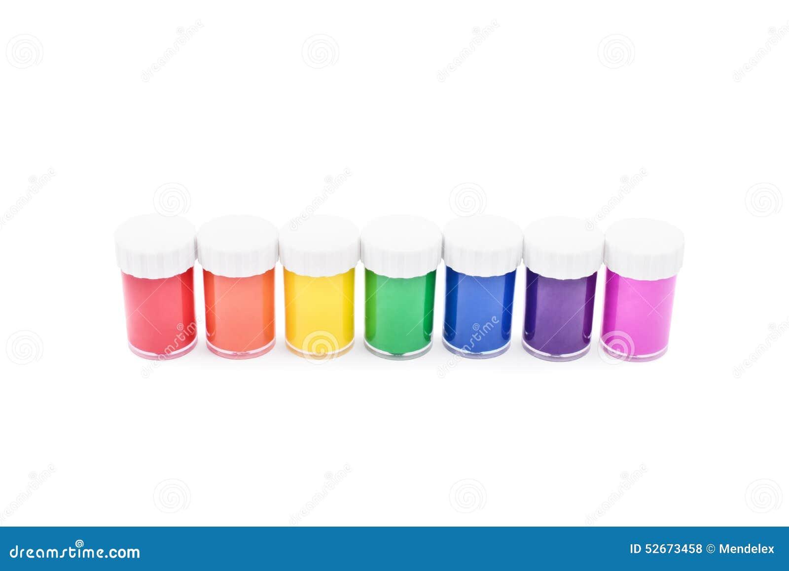 Color vials stock photo image 52673458 for Paint color spectrum