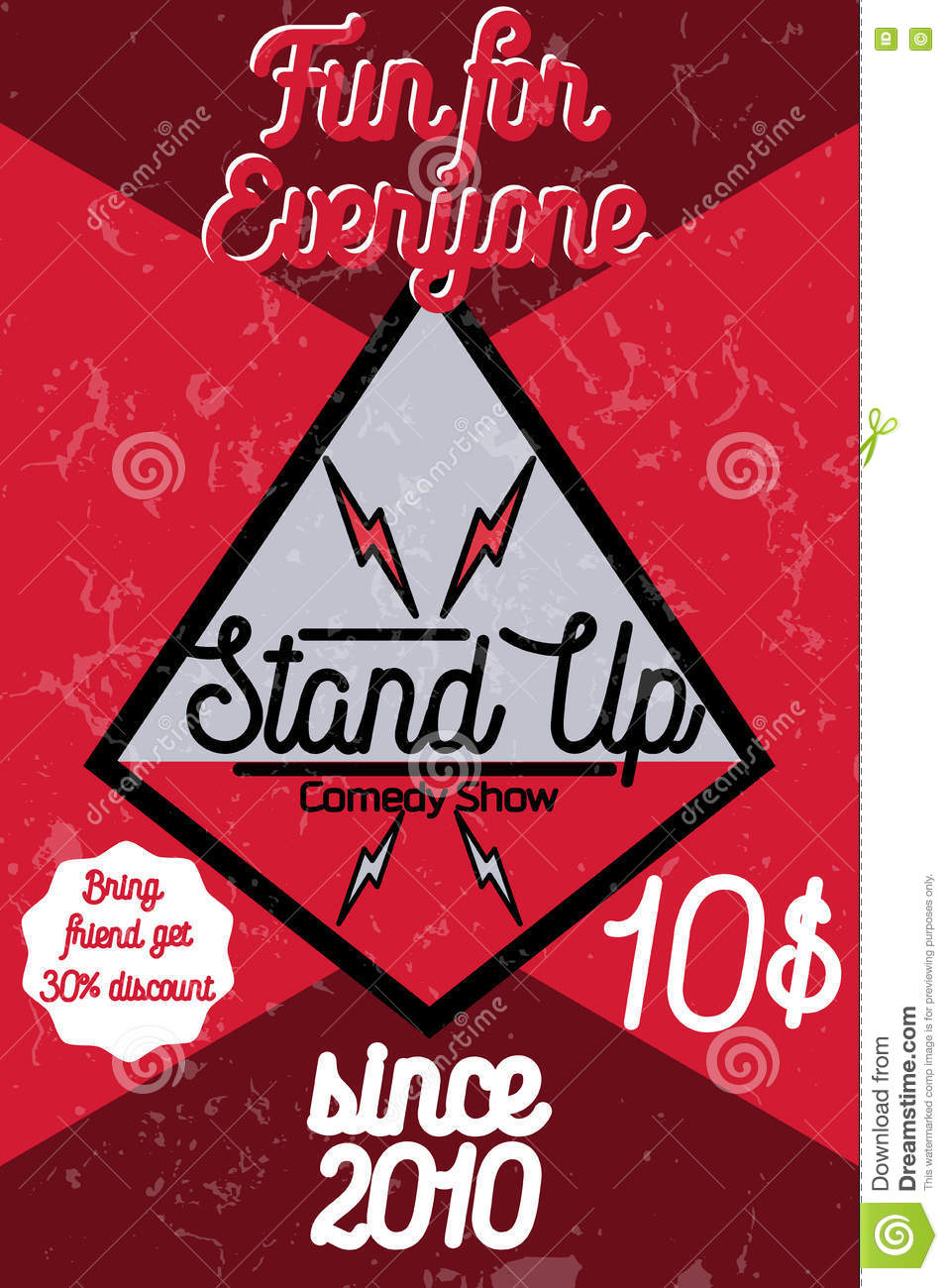 Marketing Exhibition Stand Up Comedy : Live cartoons illustrations vector stock images