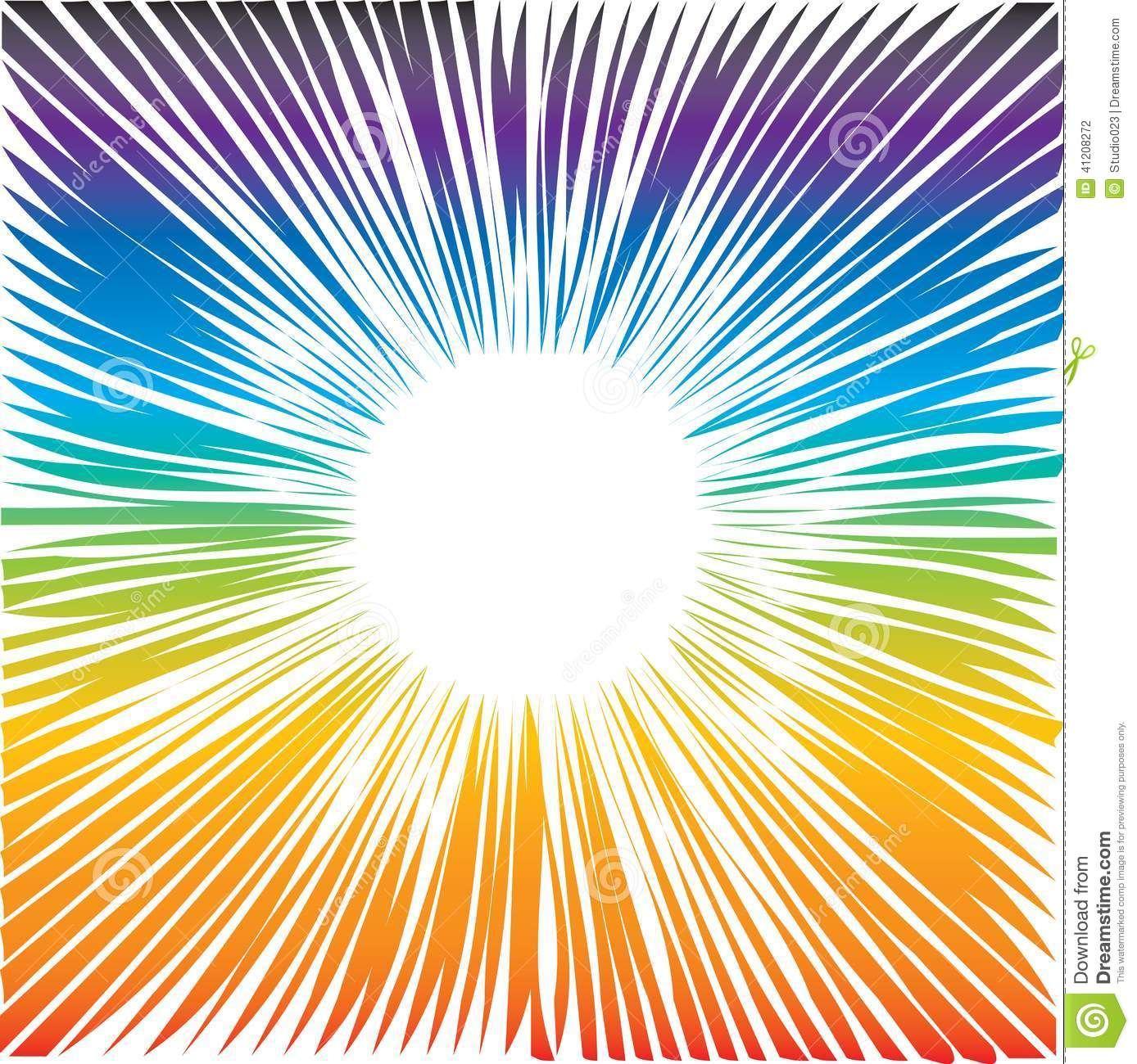 color wave round frame stock vector image 41208272