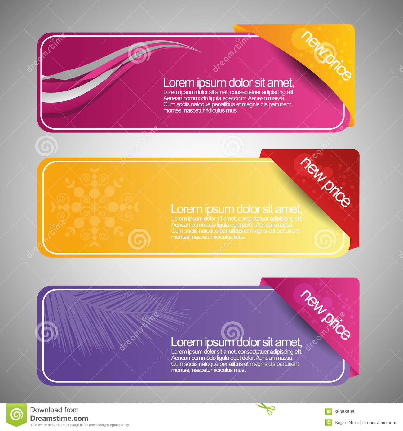 Horizontal Web Banner Template Stock Photos - Image: 34895483