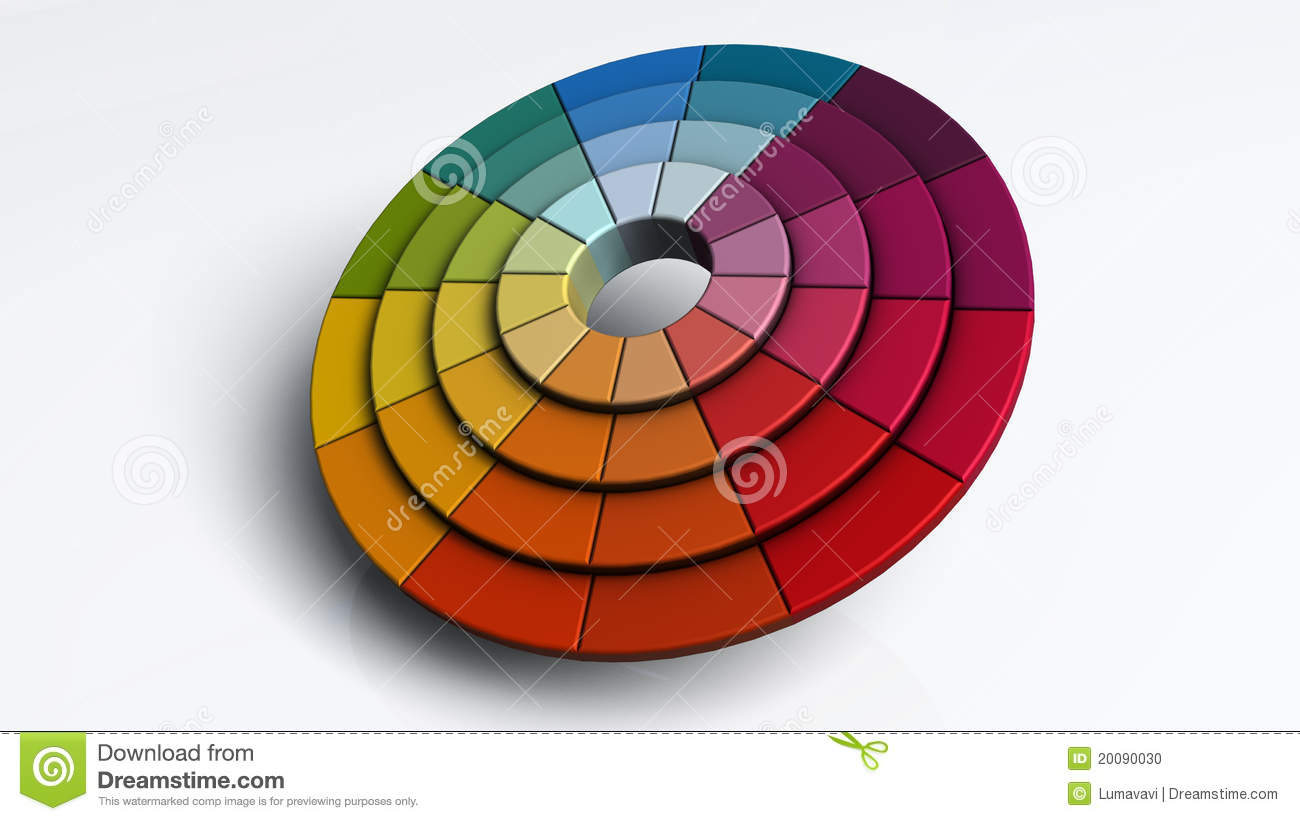 Color Spectrum Abstract Wheel Colorful Diagram Cartoon