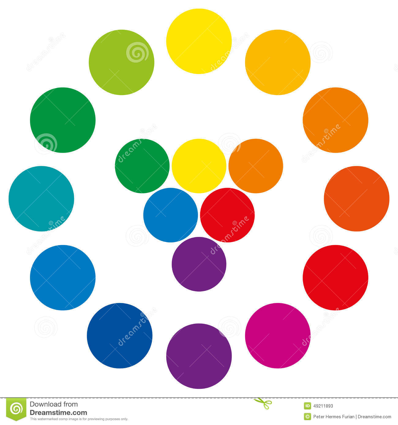 Color Wheel With Circles Stock Vector Illustration Of Complementary