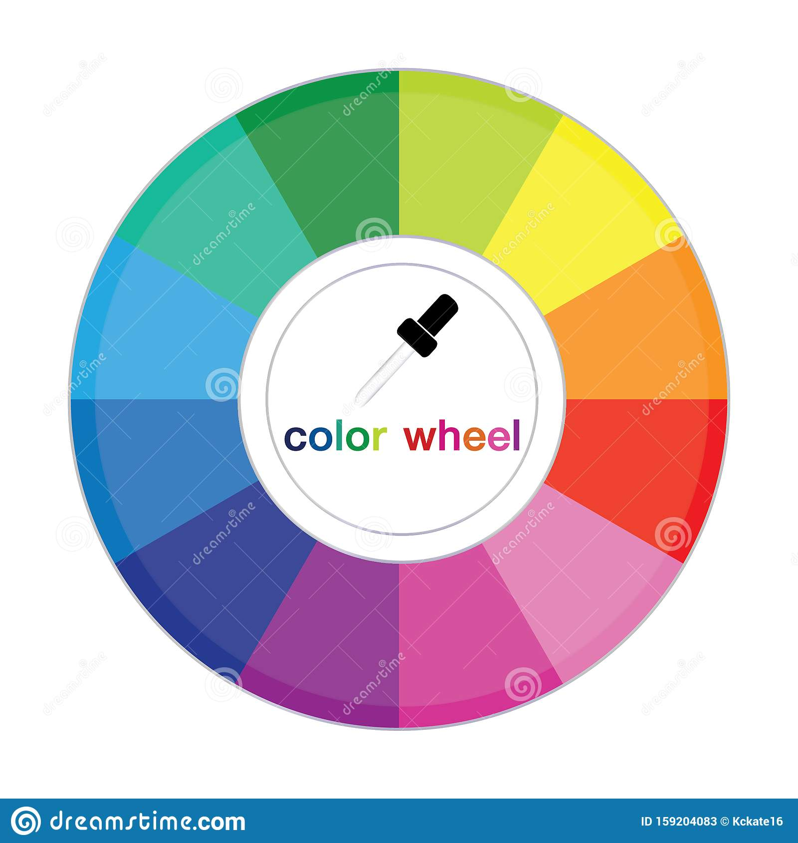 Color Wheel Complementary Colors Are Opposite Each Other Stock Illustration Illustration Of Rainbow Colorful 159204083