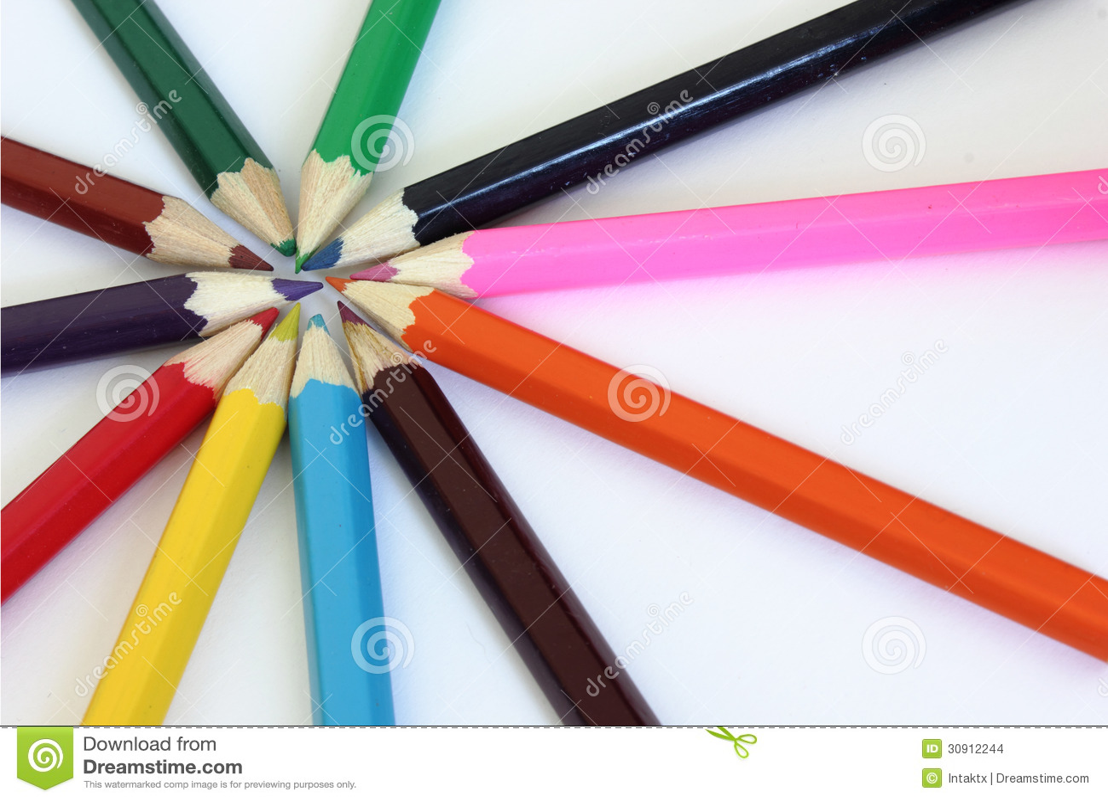 color wheel crayons stock photo image of leisure multicolor 30912244