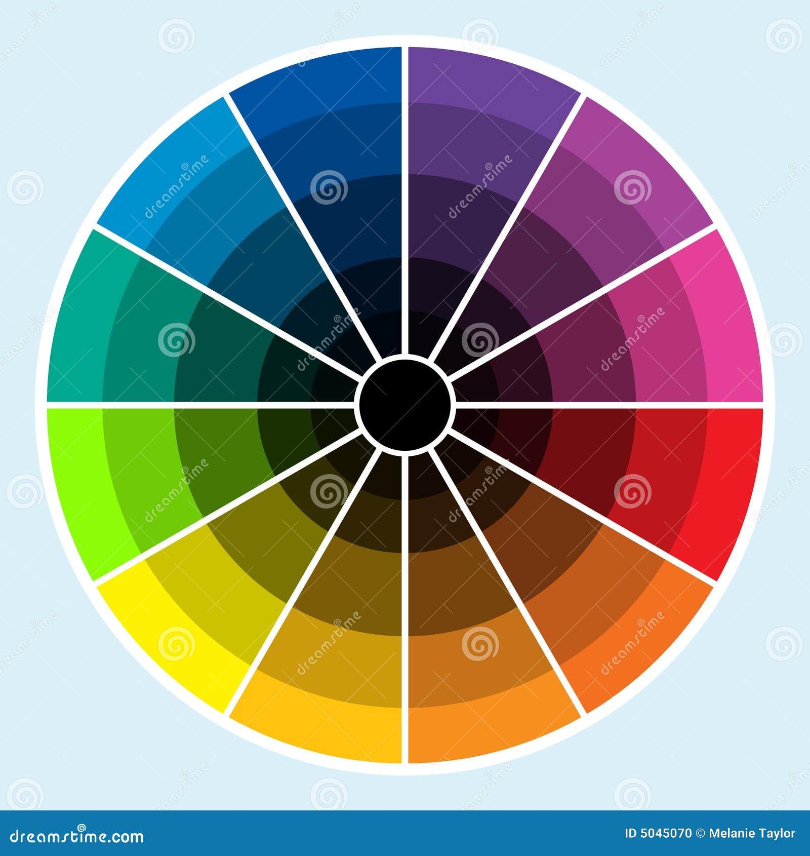 color wheel - dark stock photo - image: 5045070