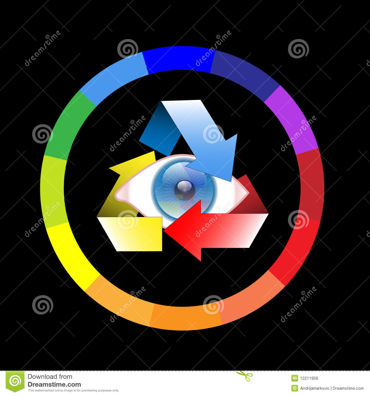Color Wheel Eye Stock Vector Illustration Of Bright 12211956