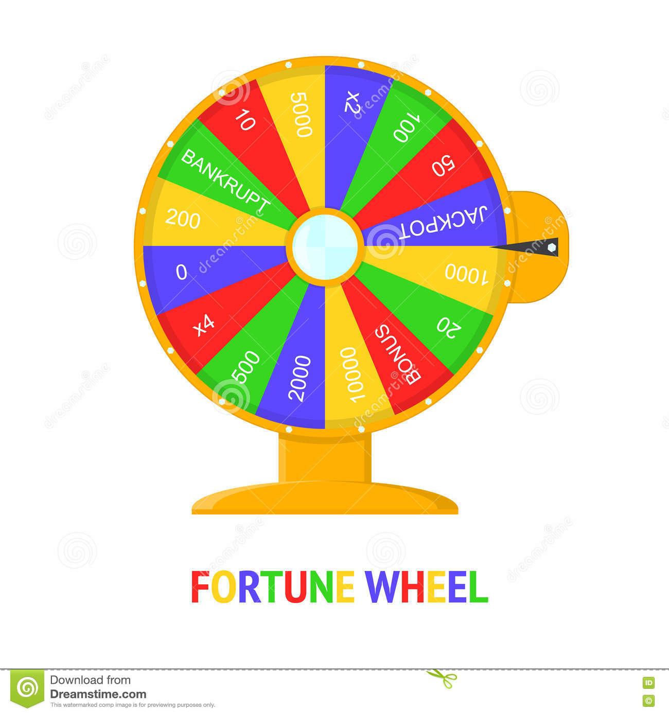 Color Wheel Of Fortune. Vector Stock Vector - Image: 80180370