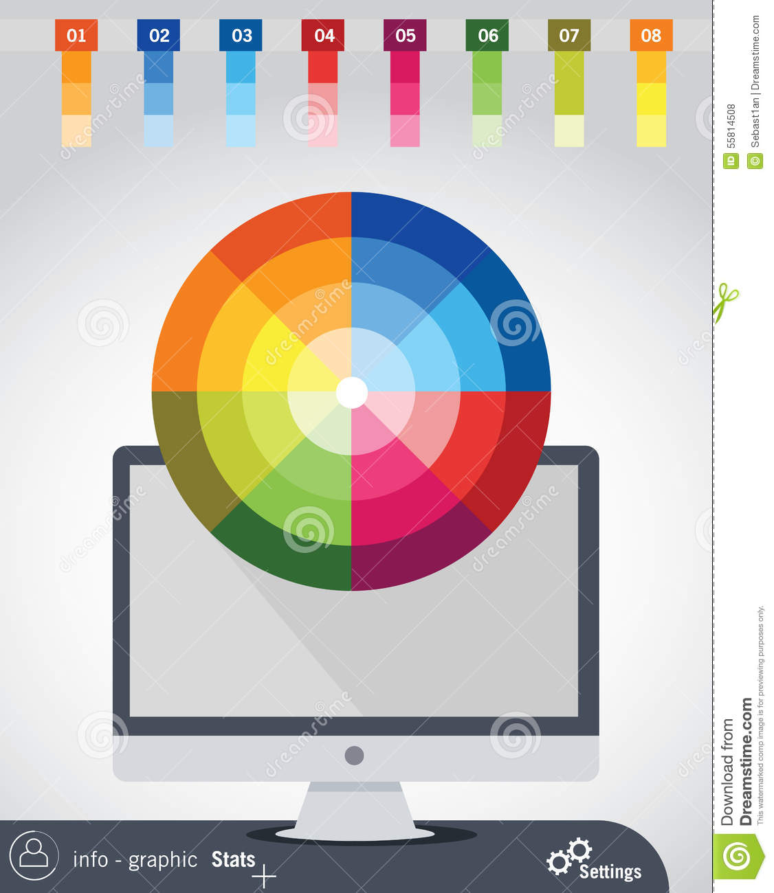 Color Wheel Stock Image 2419459