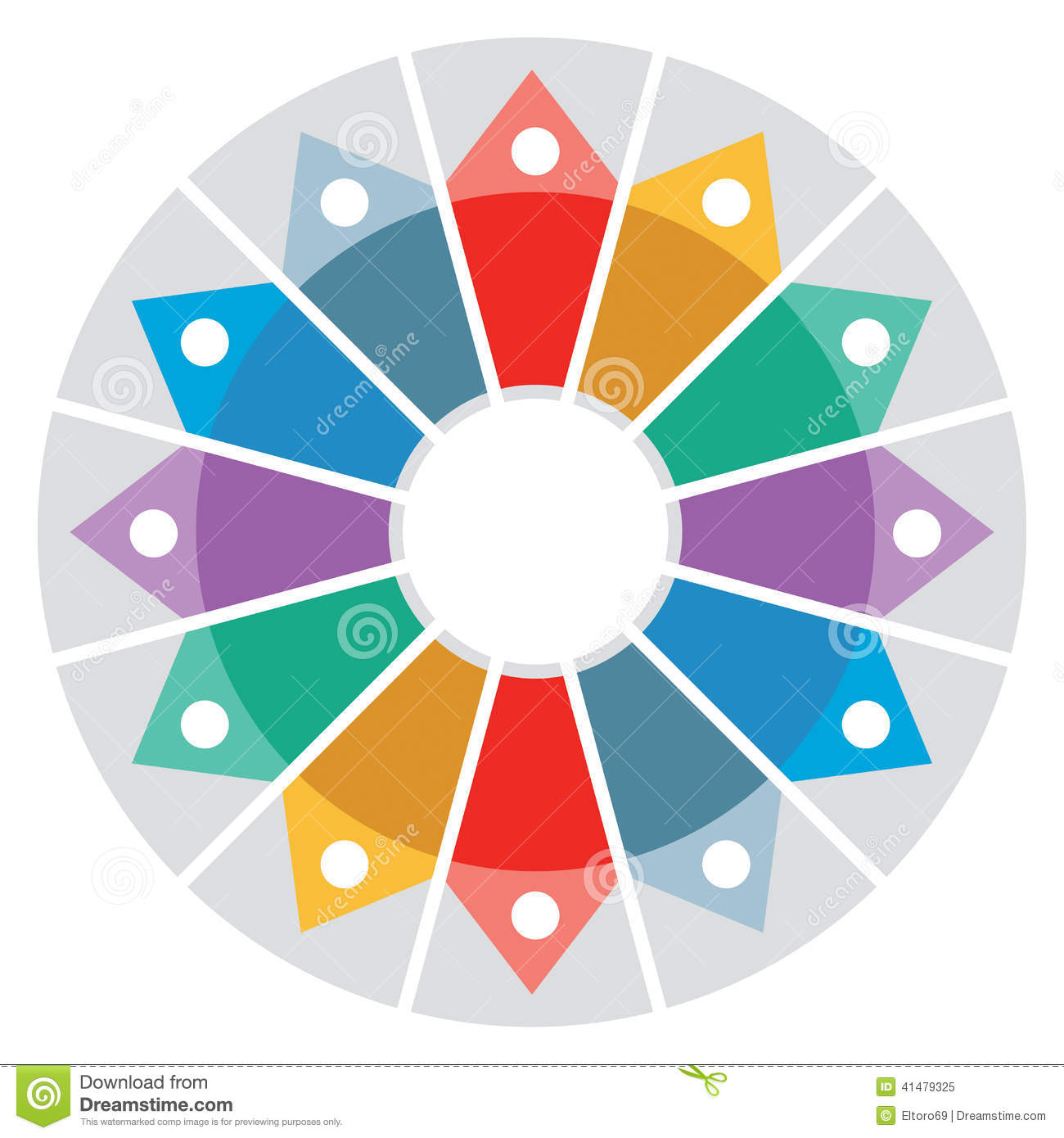 color wheel presentation template stock vector illustration of