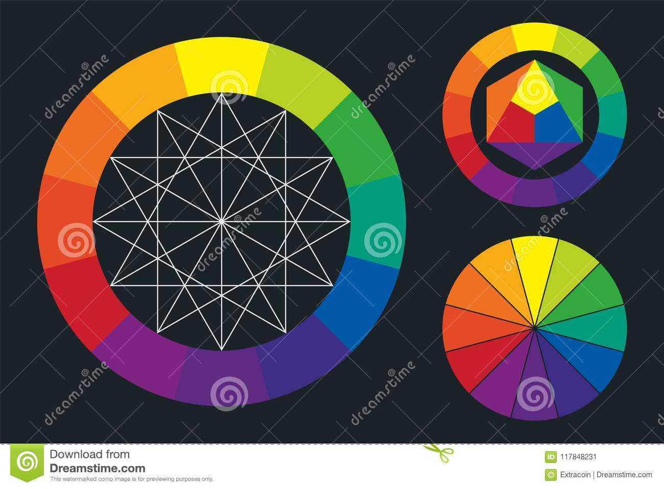 Color Wheel Scheme Stock Vector Illustration Of Creative 117848231
