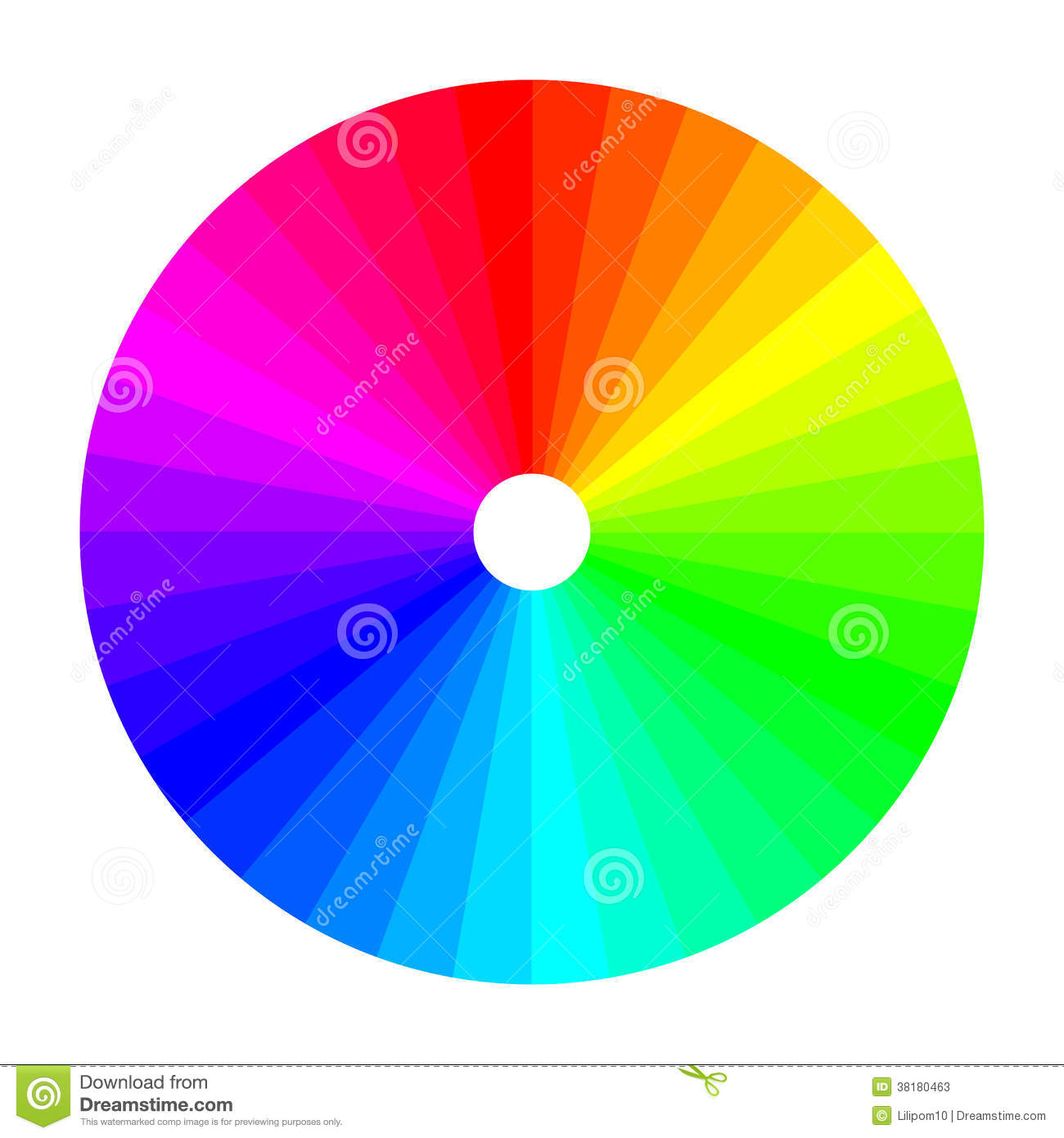 color wheel with shade of colors color spectrum stock