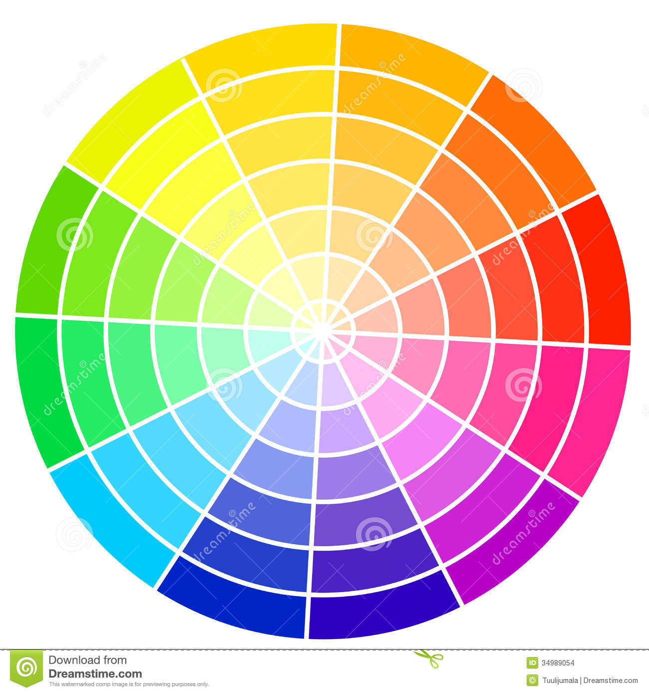 color wheel stock vector illustration of light