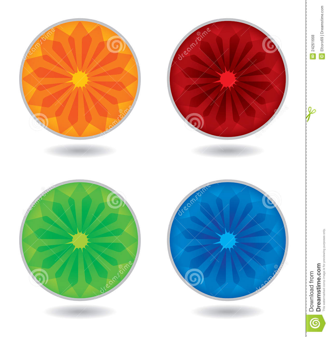 Color Wheel Template Stock Vector Illustration Of Empty 24261668