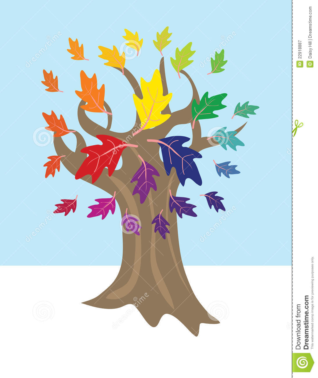 Color Wheel Tree Stock Vector Illustration Of Green 22918887