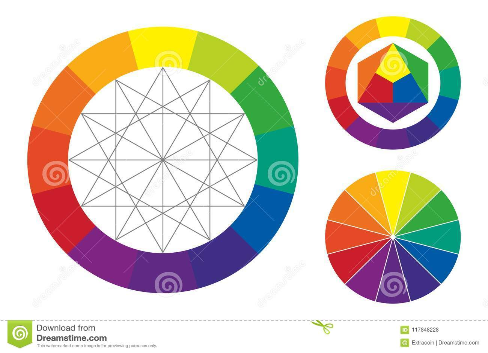 Color Wheel Vector Illustration Stock Vector Illustration Of