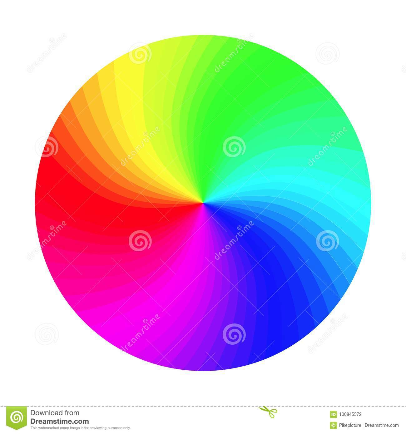 Rgb Color Wheel Vector Round Classic Palette Isolated Illustration