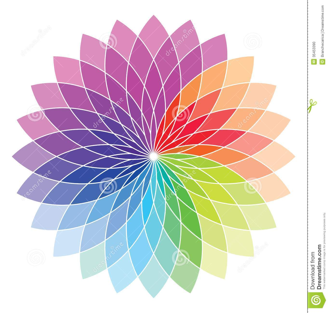 color wheel stock vector  illustration of graphic  painting