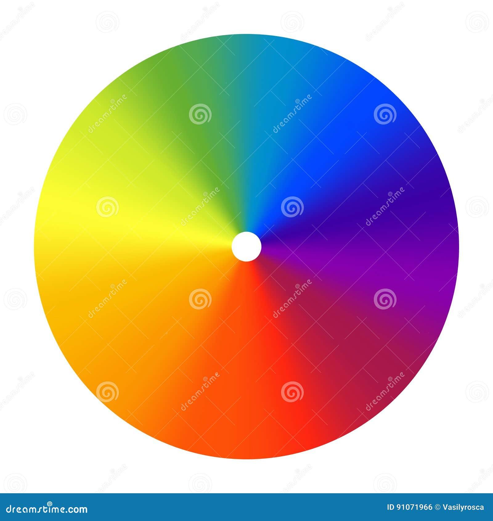 Color wheel vector spectrum. Colorful circle rainbow design. Creative saturation palette. Graphic illustration
