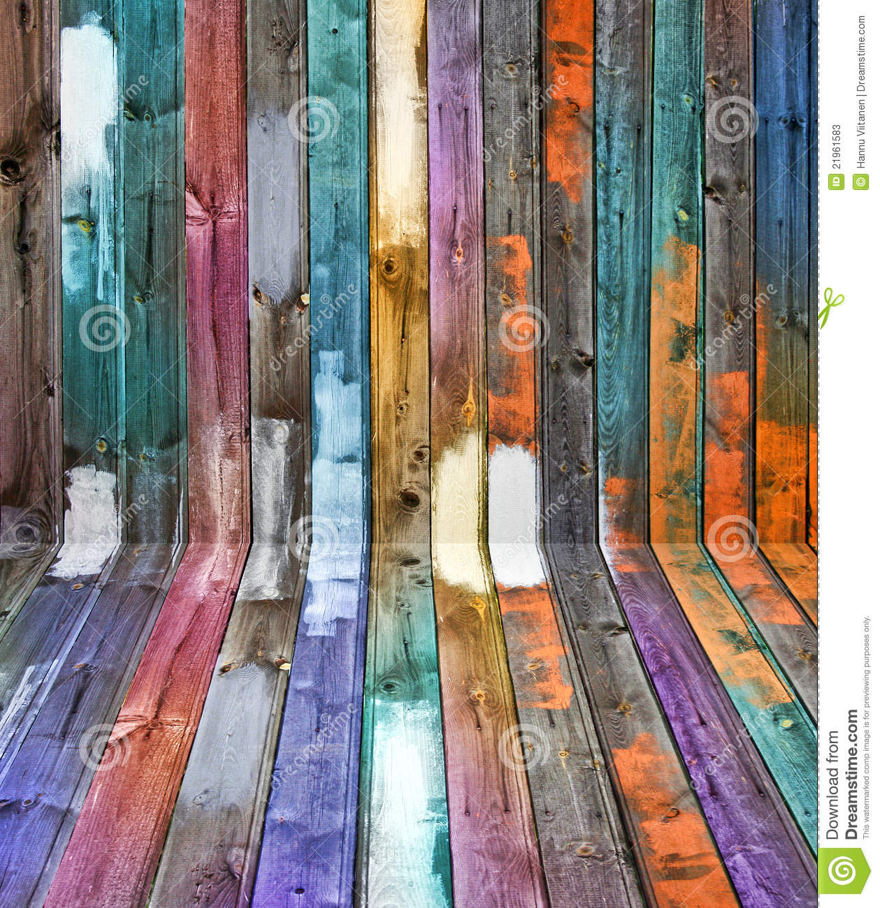 Color wood panels perspective