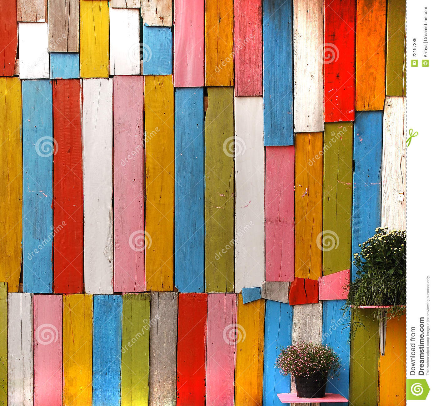 Color Wooden Wall Stock Photo Image Of Building Boarding