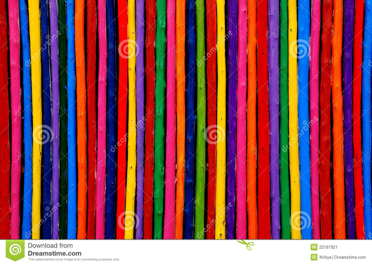 Color Wooden Wall Background Stock Image