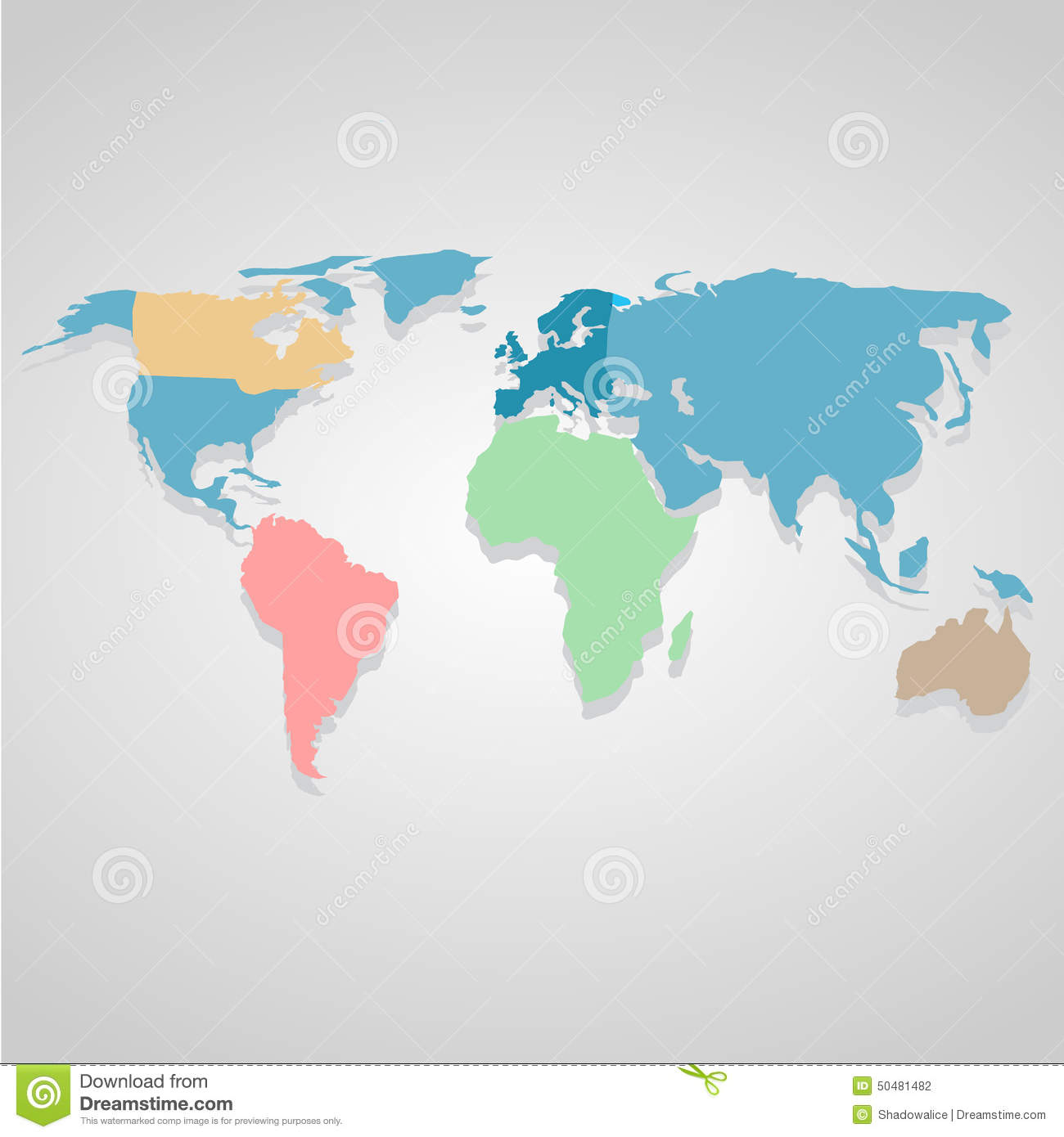 Color world map icon great for any use vector eps10 stock vector royalty free vector download color world map gumiabroncs Choice Image