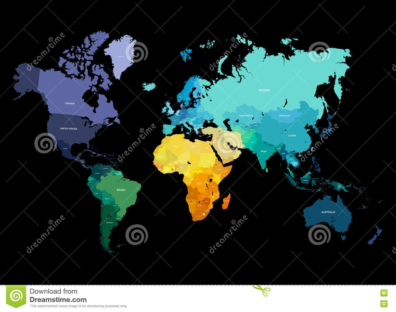 Color world map illustration stock vector illustration of abstract color world map illustration royalty free vector gumiabroncs Gallery