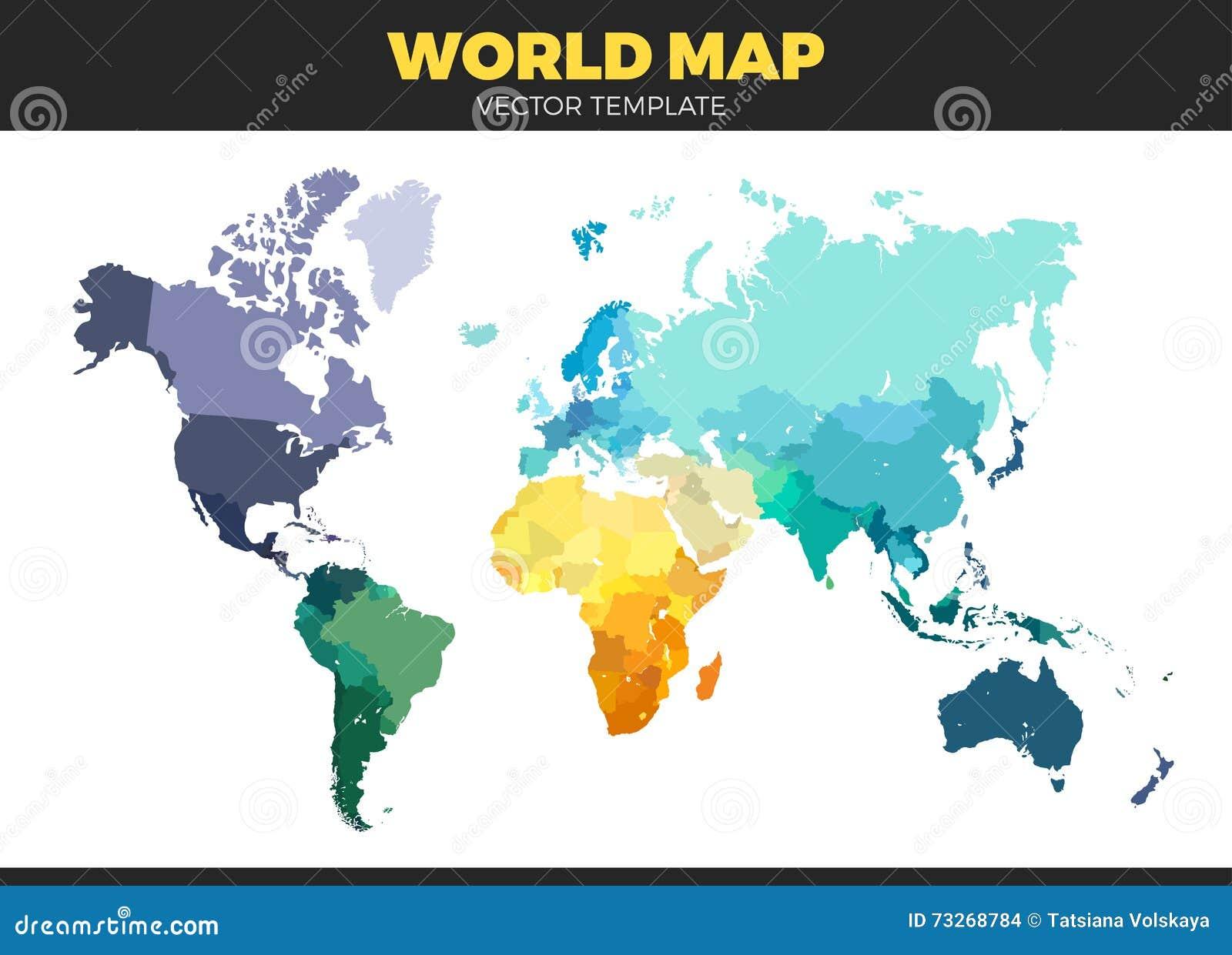 Color World Map Illustration Stock Vector Illustration Of Africa