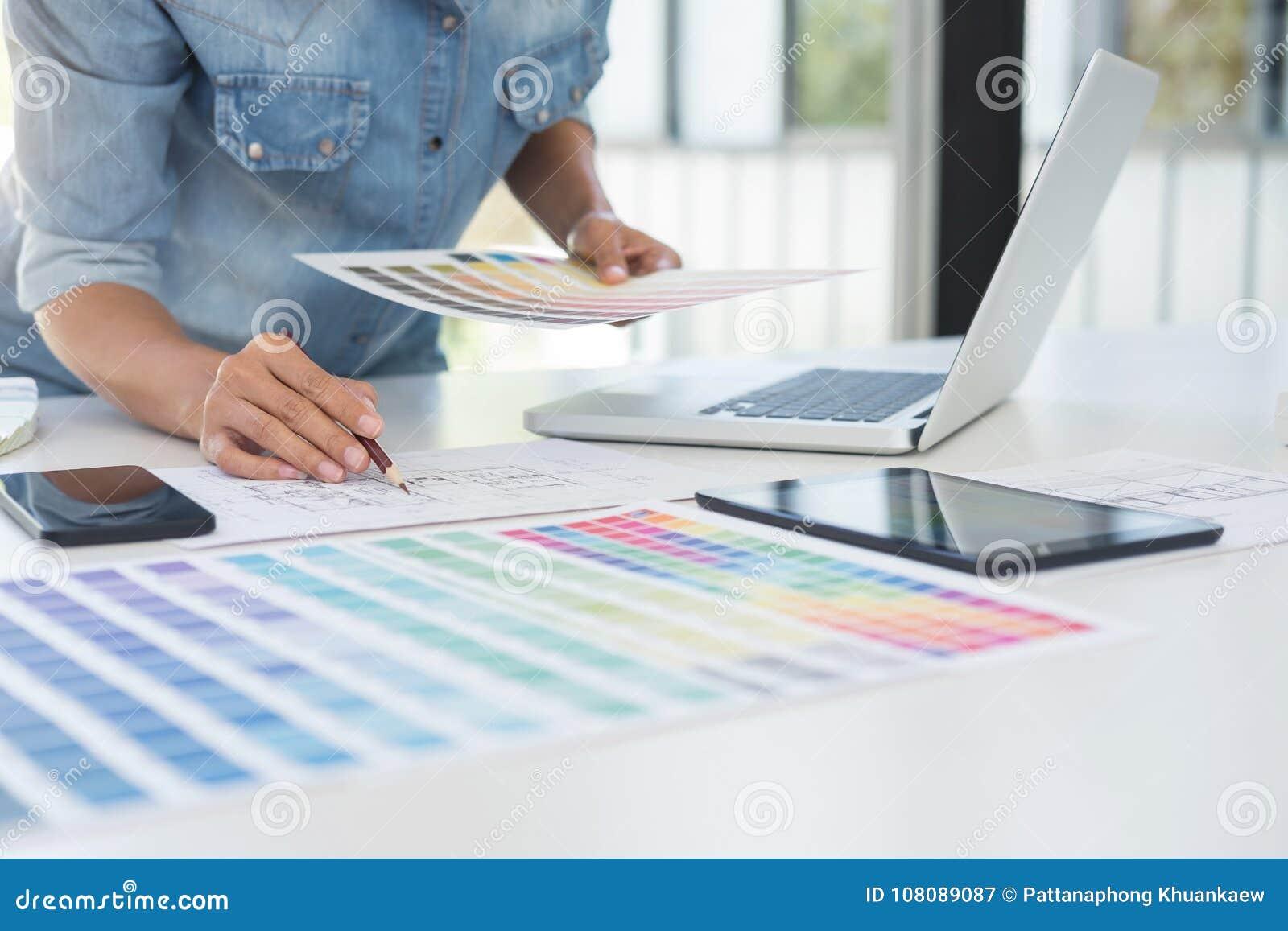 Colora amostras, carta de cor, amostra da amostra de folha, bei do designer gráfico