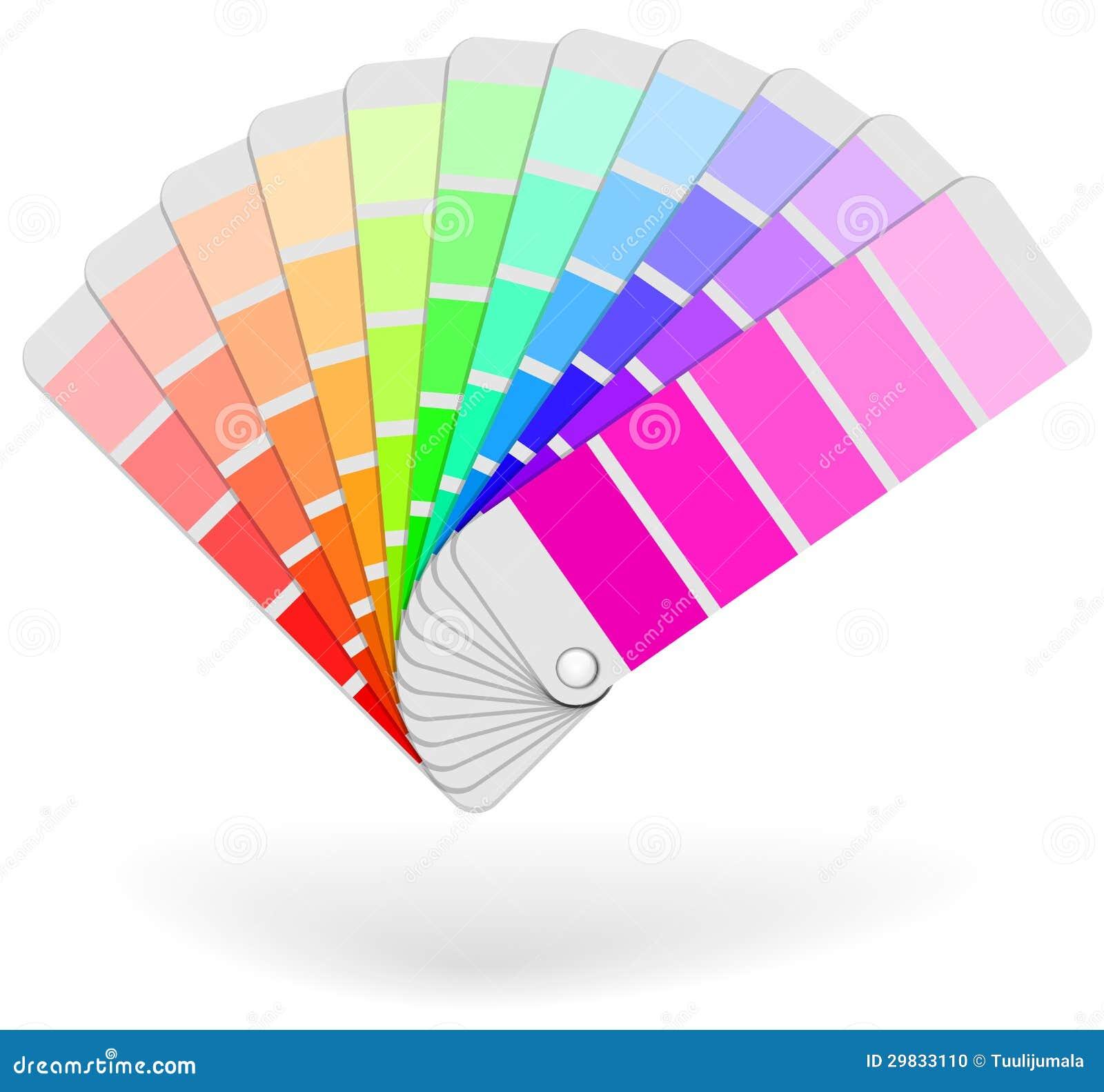 Polia do catálogo da amostra da cor