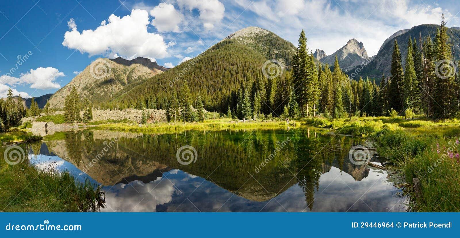 Colorado berg panorama för Lake