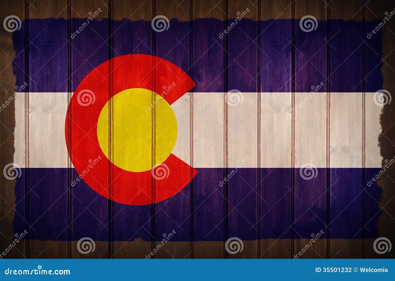 Colorado Flag on Wood