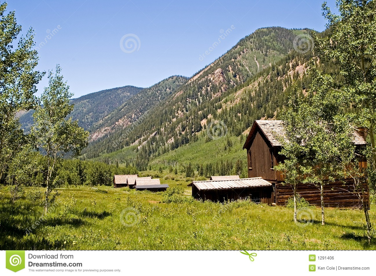 Colorado Ghost Town Royalty Free Stock Image - Image: 1291406