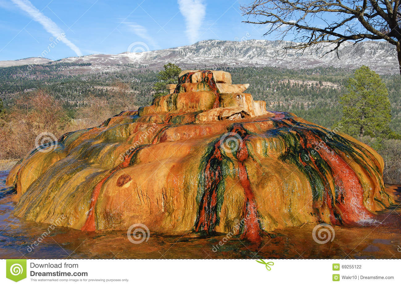 Colorado Hot Springs Stock Photo Image 69255122