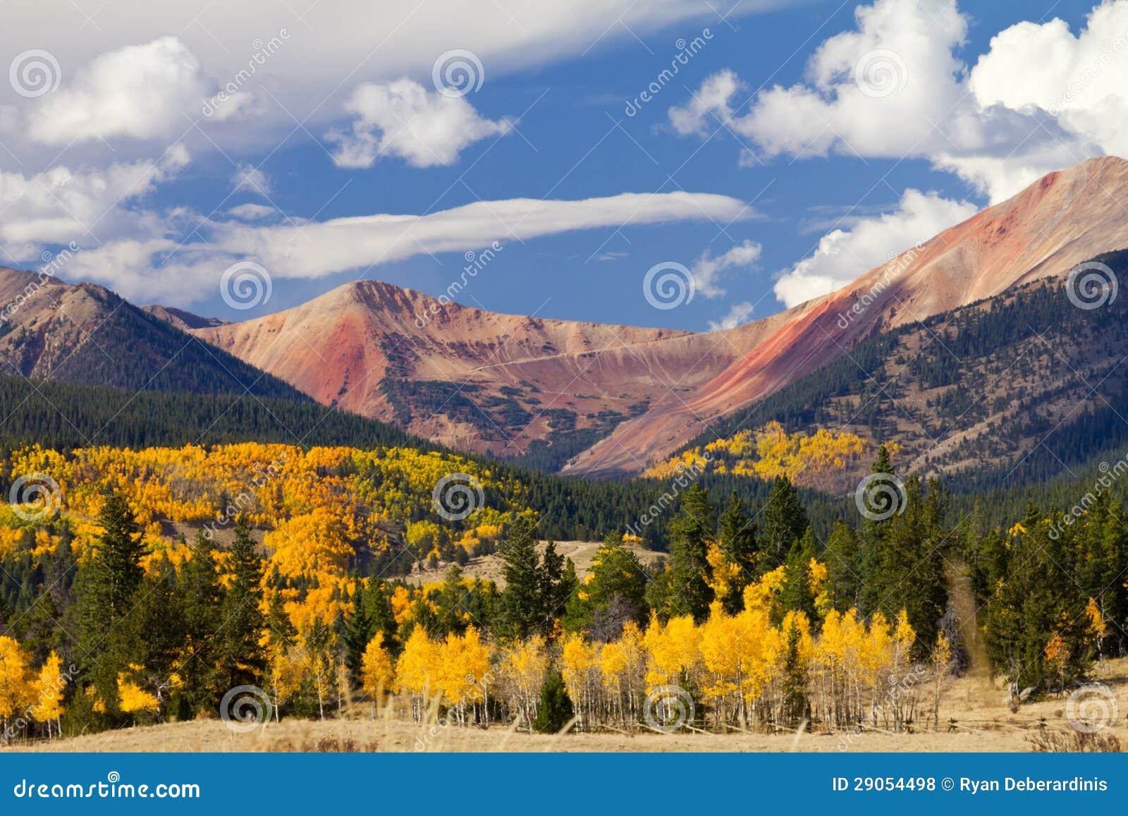 Colorado Mountain Landscape with Fall Aspens